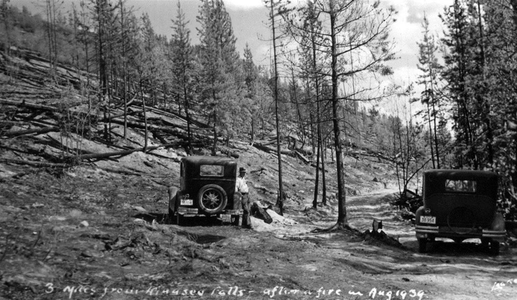 End of the road – 3 miles from Kinuseo Falls – Photo by R.E Leake