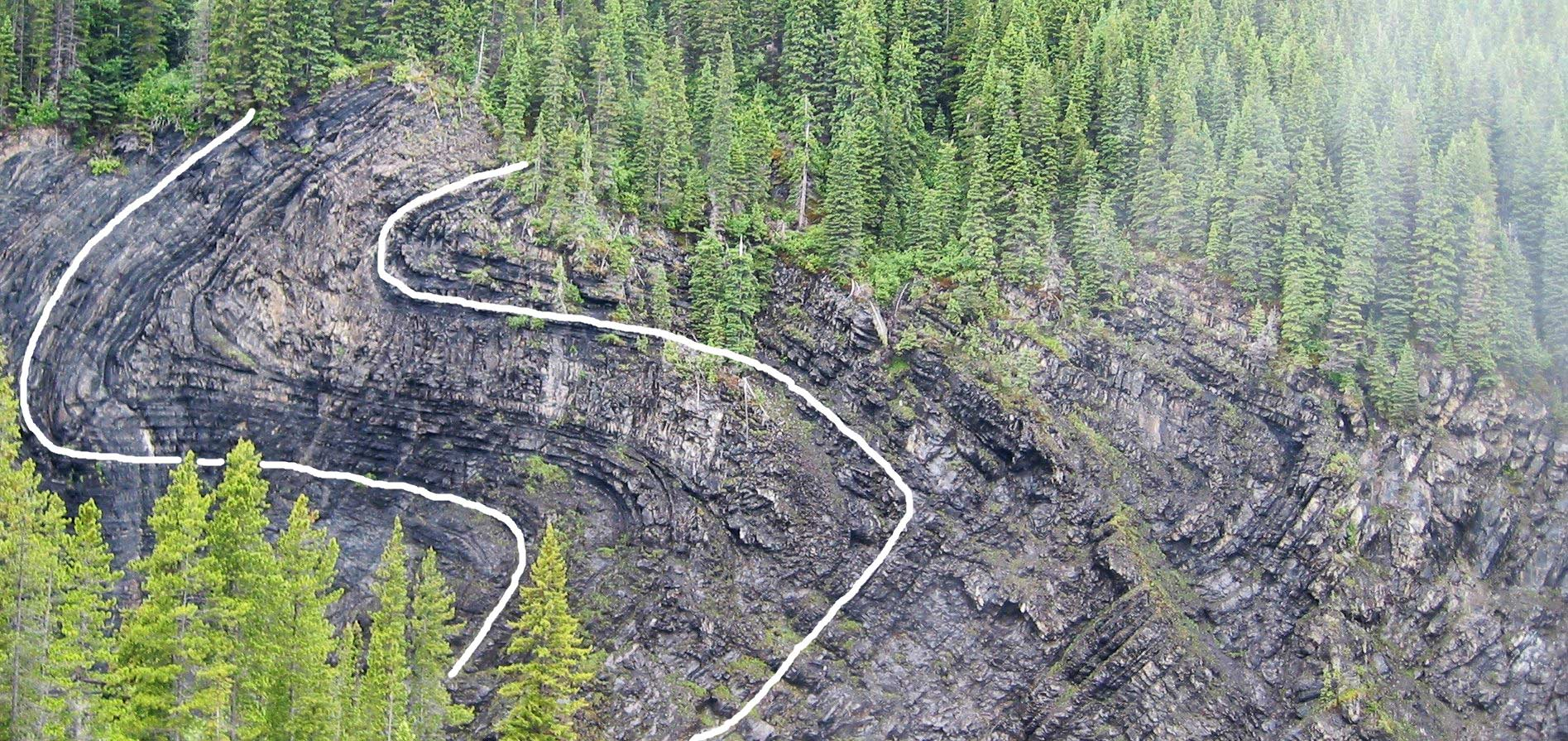 Rock Folding at Kinuseo Falls
