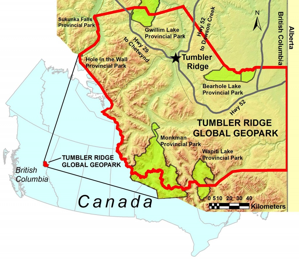 Tumbler Ridge Global Geopark Within Canada